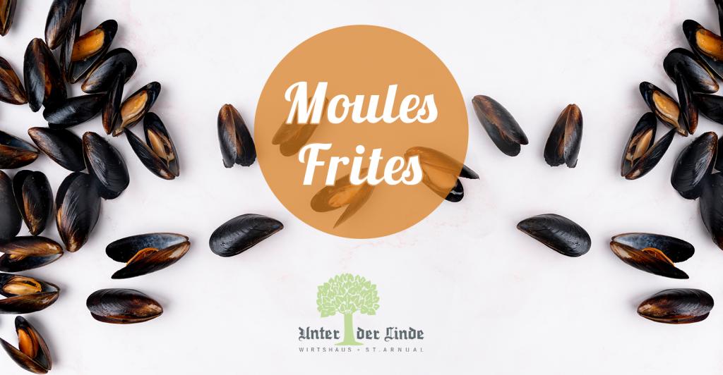 Muschelabend - Moules Frites soweit das Auge reicht